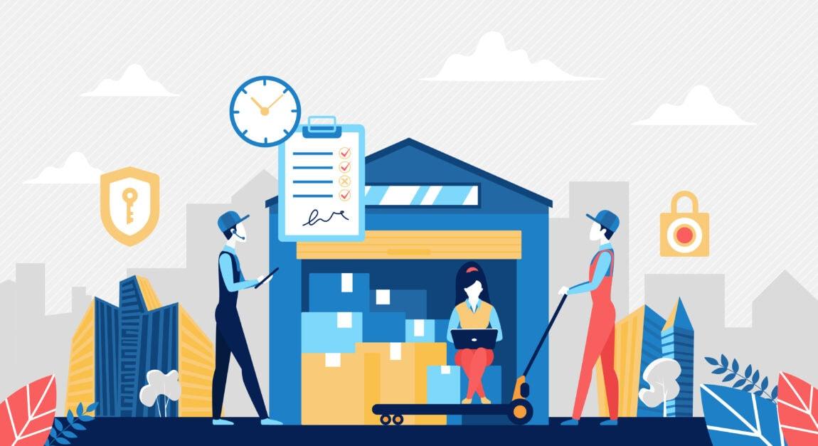 Iliustracinis paveikslėlis, kaip surikiuoti logistiką norint parduoti rankdarbius