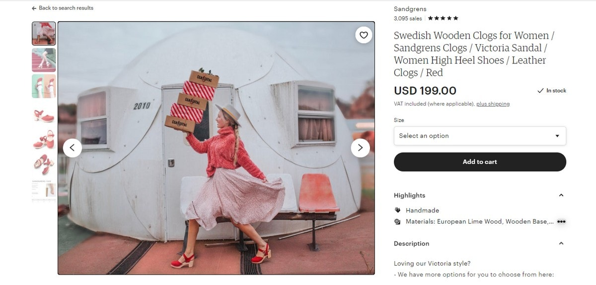 Sandgrens Clogs titulinė įvaizdinė nuotrauka Etsy