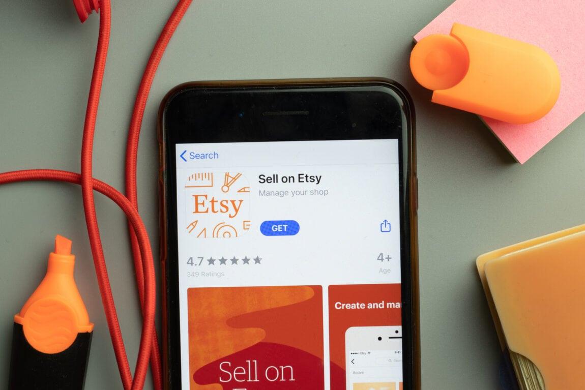 Kaip atsidaryti Etsy parduotuve. Illustratative Editorial Etsy